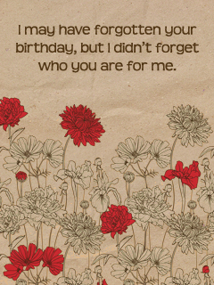 Belated cards free birthday cards field of flowers bookmarktalkfo Images