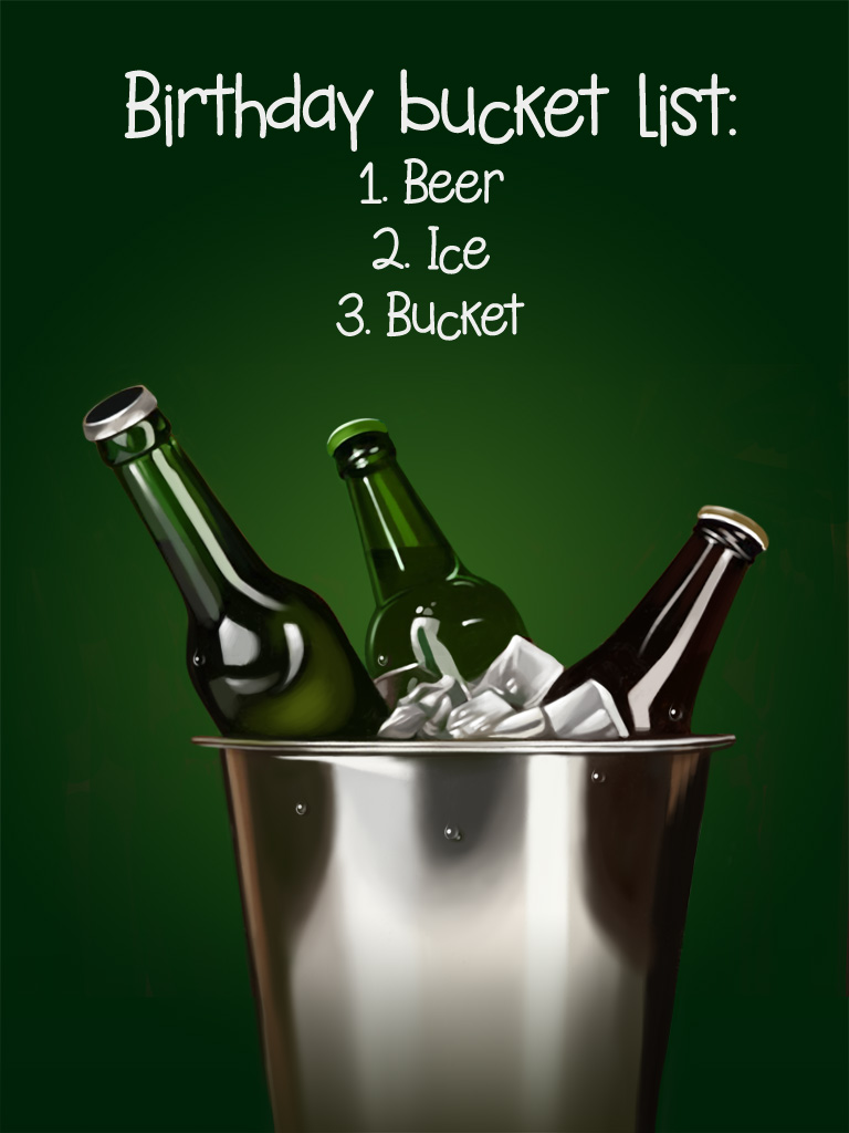 Beer Bucket Free Birthday Cards