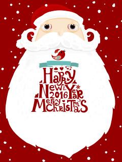 New Year. Santa 2016