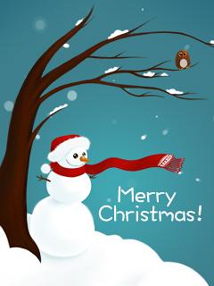 Merry Christmas. Snow
