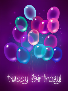 Purple Transparent Balloons