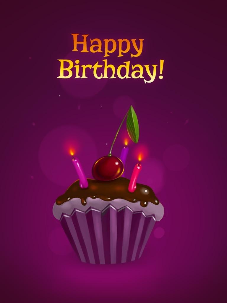 Cherry Birthday Cupcake
