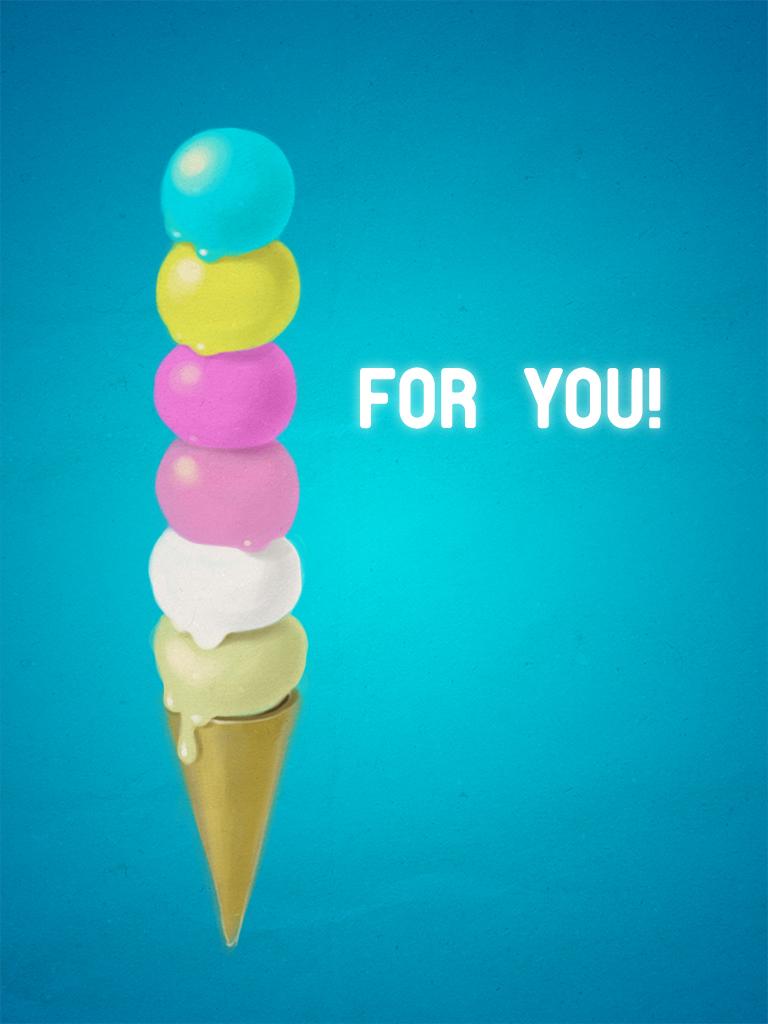 Tall Ice Cream Cone